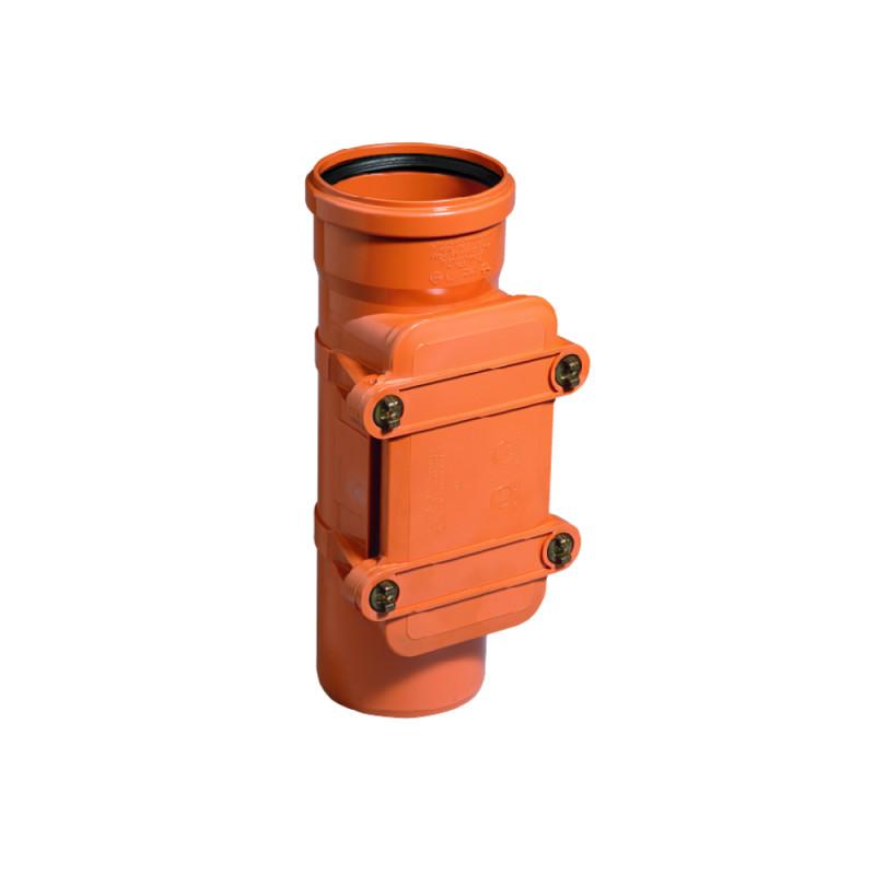 Ревизия ПВХ канализационная Ostendorf KG Ø160, c прямоугольным люком