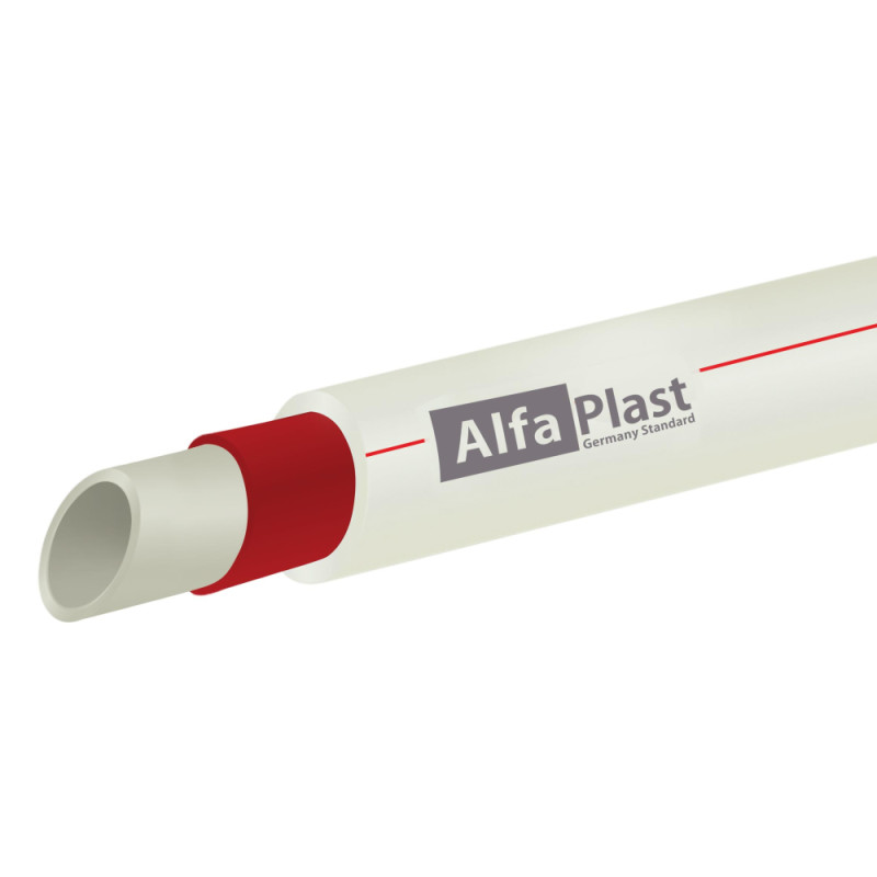 Труба PPR Alfa Plast армированная стекловолокном Ø63х8,6