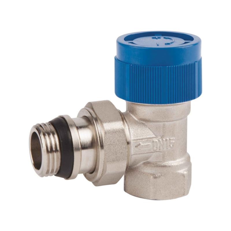 """Клапан термостатический SD Forte 1/2"""" с антипротечкой для радиатора угловой"""