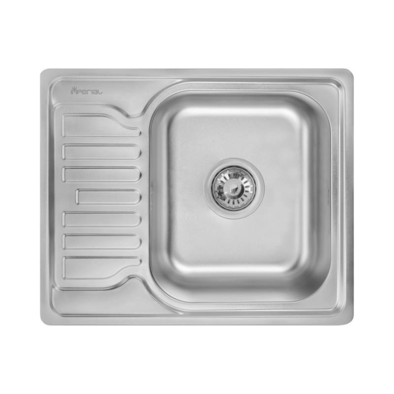 Кухонная мойка Imperial 5848 0,8мм Decor + сифон