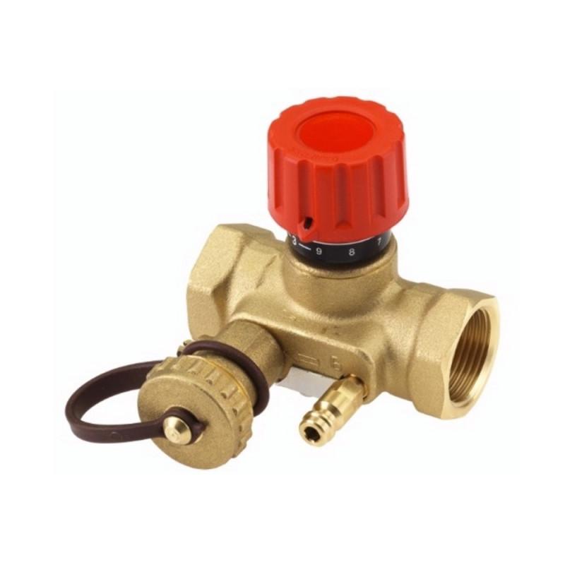 """Балансировочный клапан Danfoss USV-I1"""" 1/2 с дренажным краном 003Z2135"""