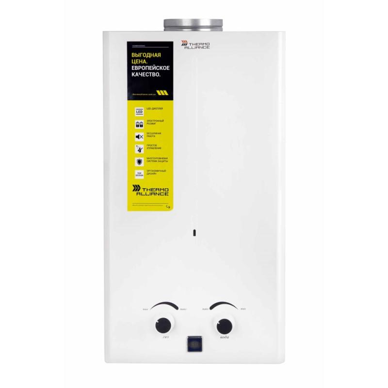 Газовая колонка Thermo Alliance дымоходная JSD20-10CR 10 л белая