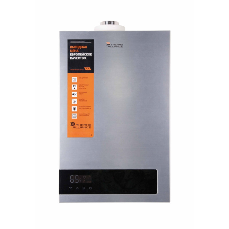Газовая колонка Thermo Alliance турбированная JSG20-10ET18 10 л Silver