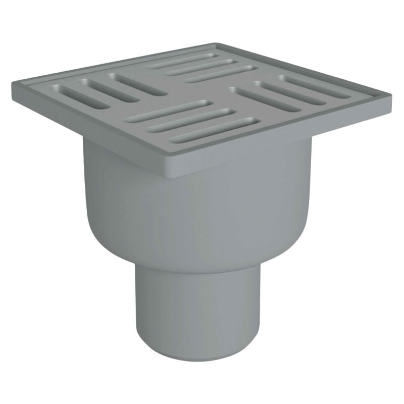 Трап ANI Plast TQ5202 вертикальный с нержавеющей решеткой 100х100