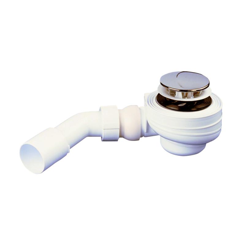 Трап для душ поддона SANIT 34.035.00..0000 выпуск 52 мм, шаровой регулируемый выход 40/50 мм
