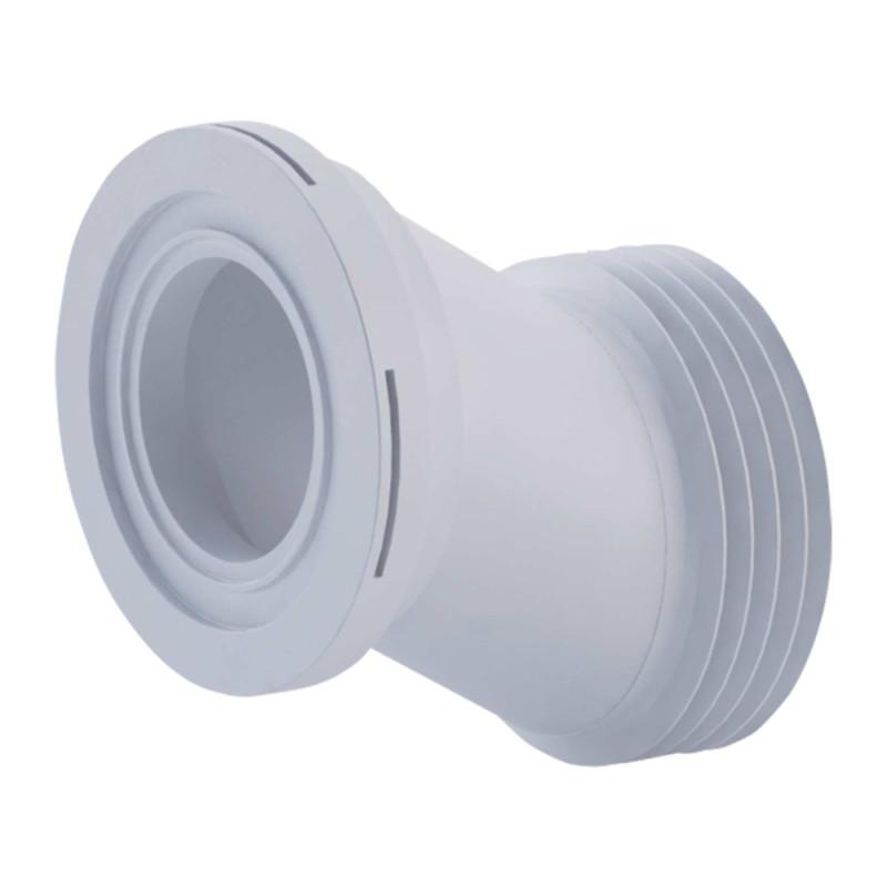 Фановая труба ANI Plast W0420 для унитаза эксцентрическая по центрам 40 мм