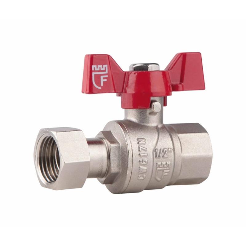 SD FORTE Кран шаровый прямой с накидной гайкой для воды 3/4в х 3/4в   SF260W20