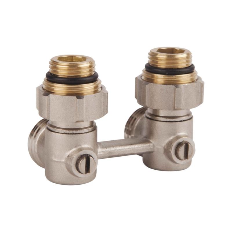 SD FORTE Кран для стальн. рад. угловой шаровой 3/4 х 1/2    SF250W15