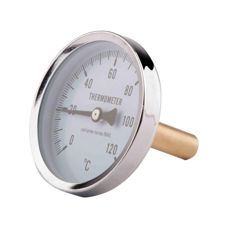SD Термометр задн. подкл.1/2 Ø63мм 120ºC штуцер 40мм   SD17440MM