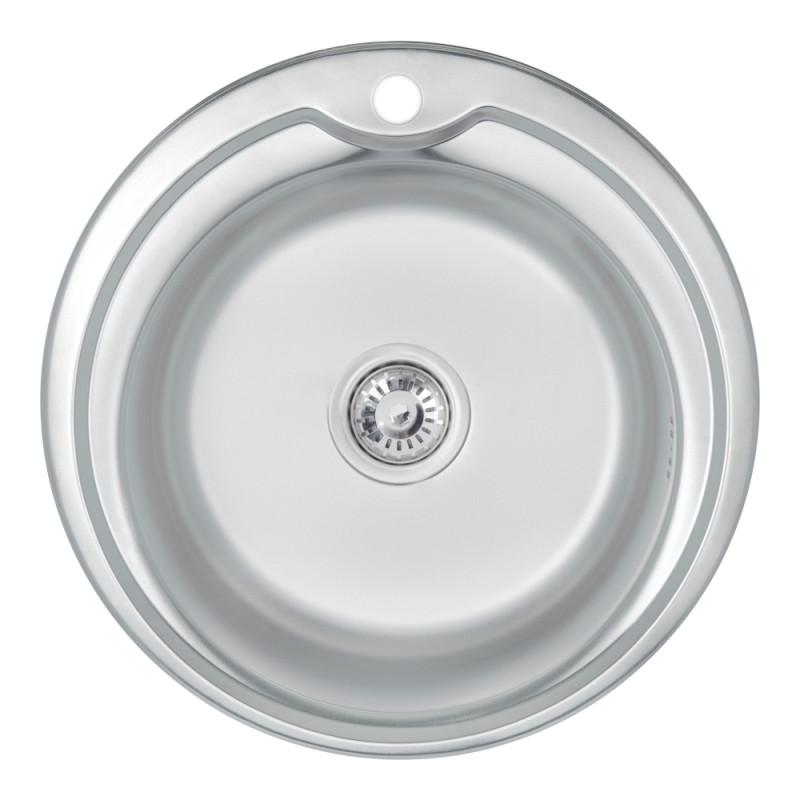Кухонная мойка 510-D Satin 0,6 мм (LIDZ510D06SAT)