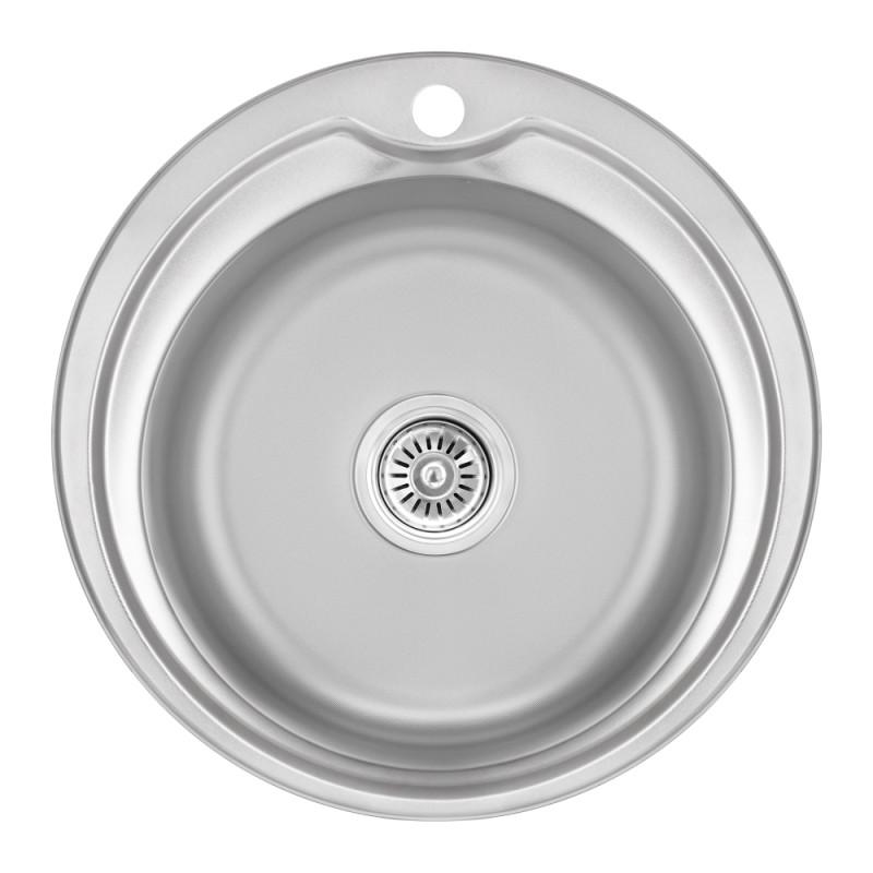 Кухонная мойка Lidz 510-D Decor 0,8 мм (LIDZ510DDEC)