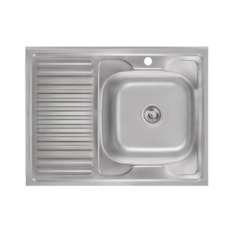Кухонная мойка Lidz 6080-R Satin 0,6 мм (LIDZ6080R06SAT)