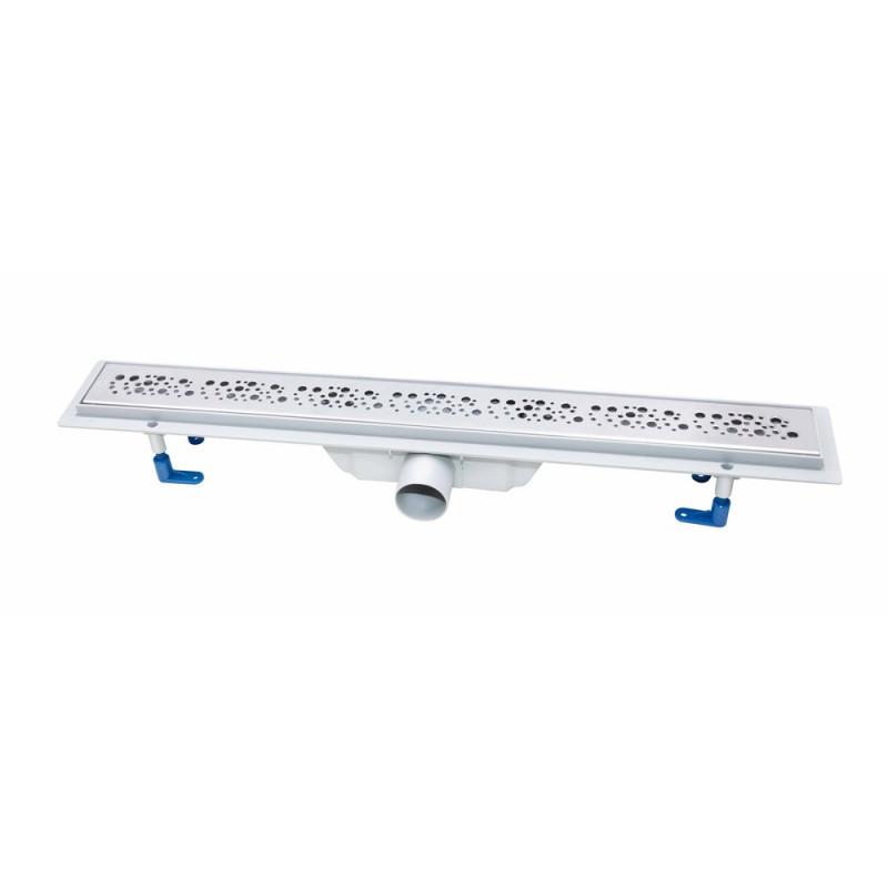 Трап линейный Q-tap Dry FC304-700 с нержавеющей решеткой 700х73