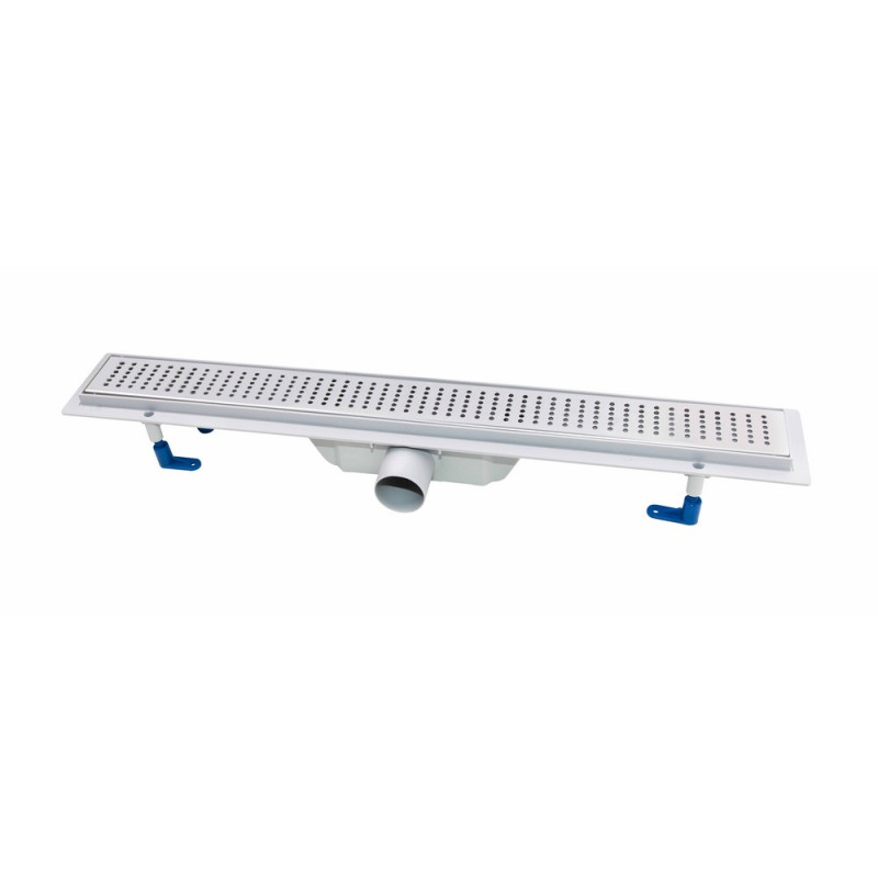Трап линейный Q-tap Dry FB304-700 с нержавеющей решеткой 700х73