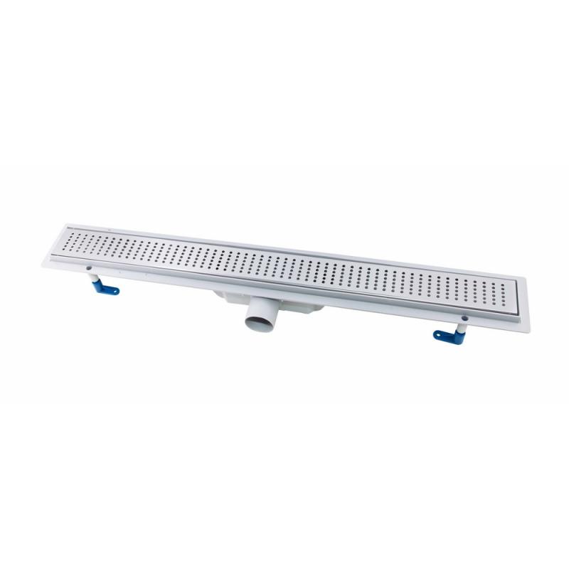 Трап линейный Q-tap Dry FB304-800 с нержавеющей решеткой 800х73
