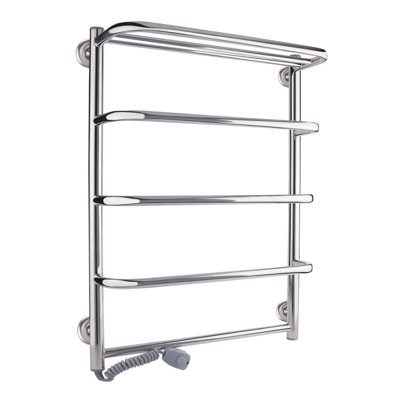 Полотенцесушитель электрический Q-tap Standard shelf (CRM) P5 500х700 LE с полкой