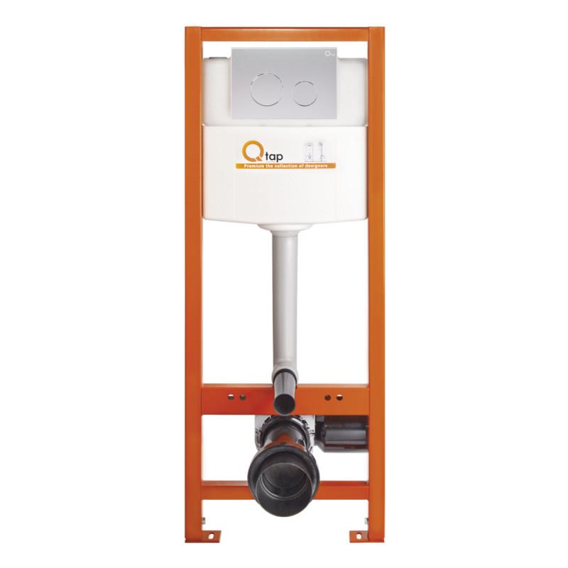 Инсталляция для унитаза Q-tap Nest M425-M11SAT с панелью смыва Satin