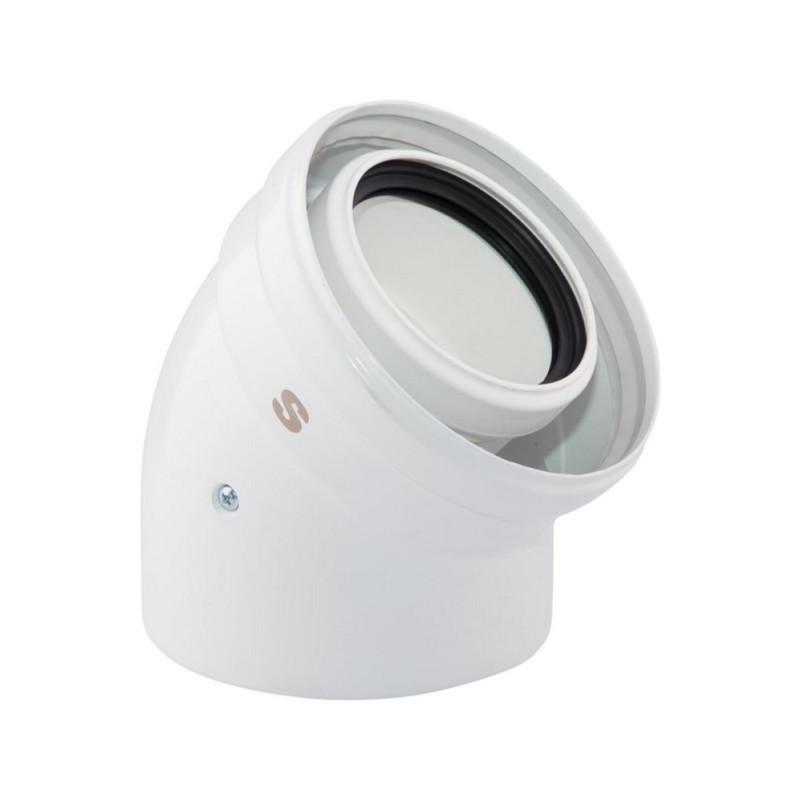 Коаксиальное колено Sime для конденсационных котлов 45 80/125