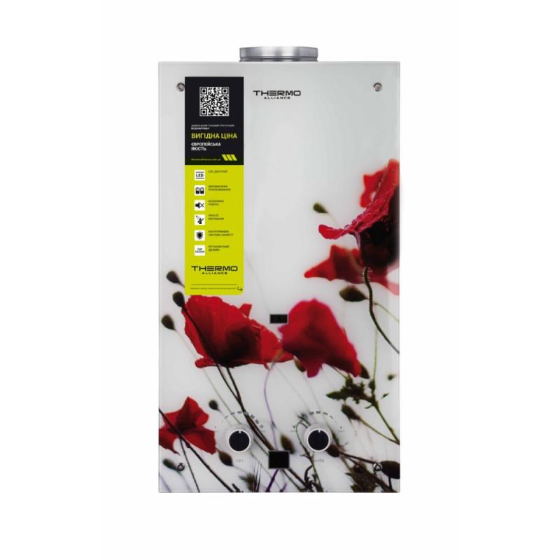 Колонка газова димохідна Thermo Alliance JSD20-10GB 10 л скло (квітка)