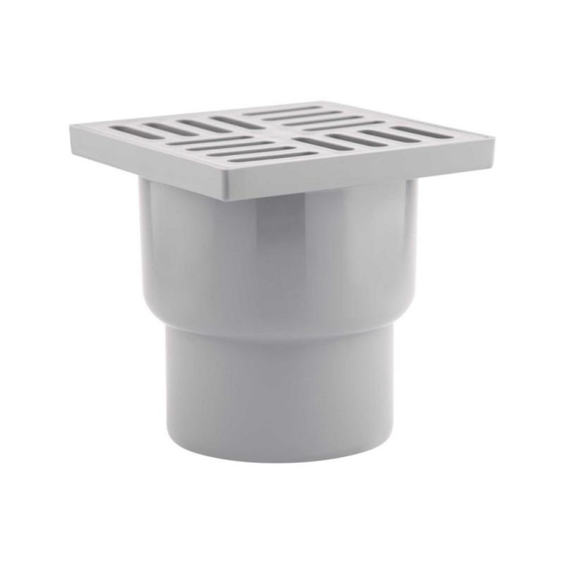 Трап Krono Plast TA1210 вертикальный с пластиковой решеткой 150х150
