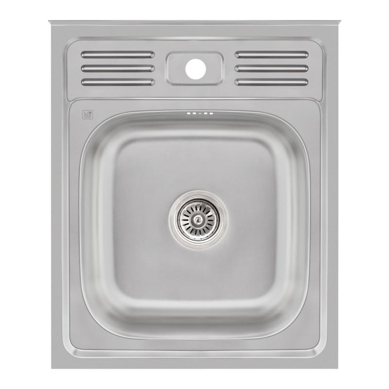 Кухонная мойка Lidz 5060 Satin 0,6 мм (LIDZ506006SAT)