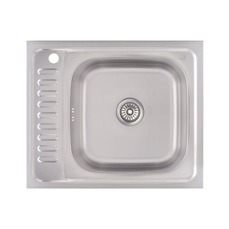 Кухонная мойка Lidz 6050-R Decor 0,6 мм (LIDZ6050R06DEC)