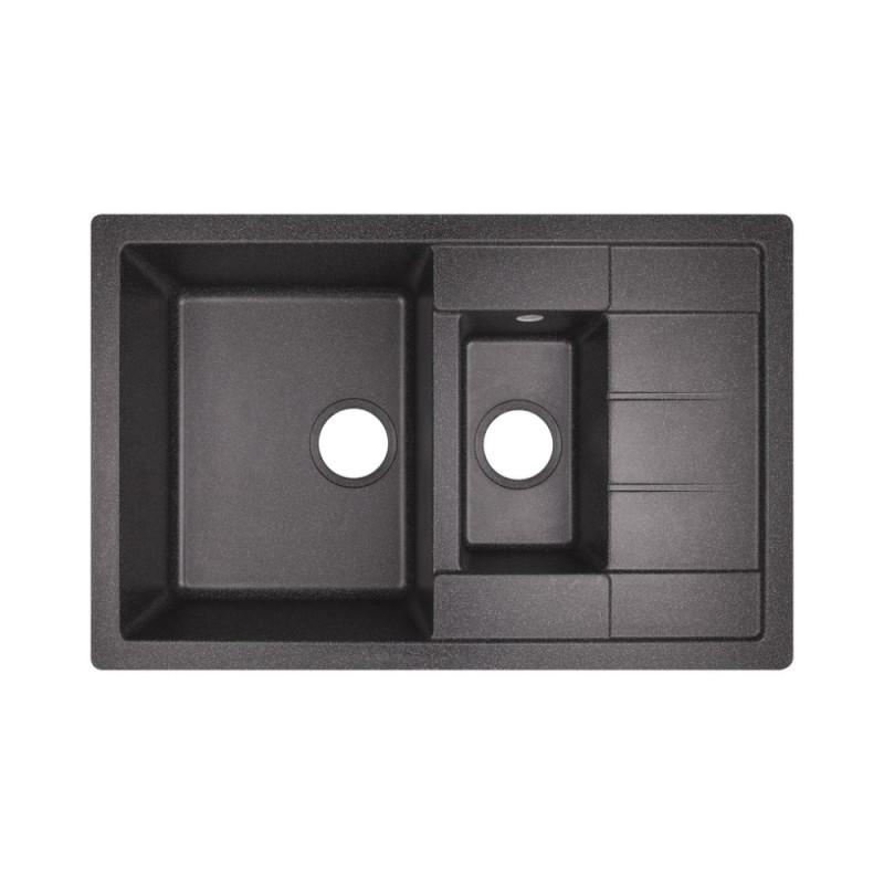 Кухонная мойка Lidz 780x495/200 BLA-03 (LIDZBLA03780495200)