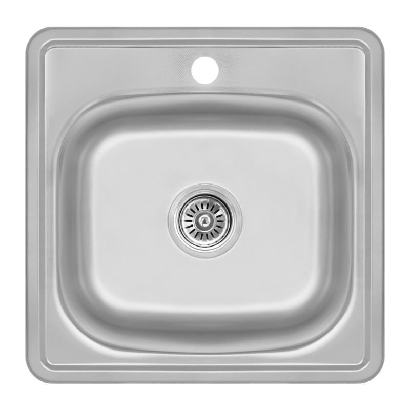 Кухонная мойка Lidz 4848  Decor 0,6 мм (LIDZ4848DEC06)