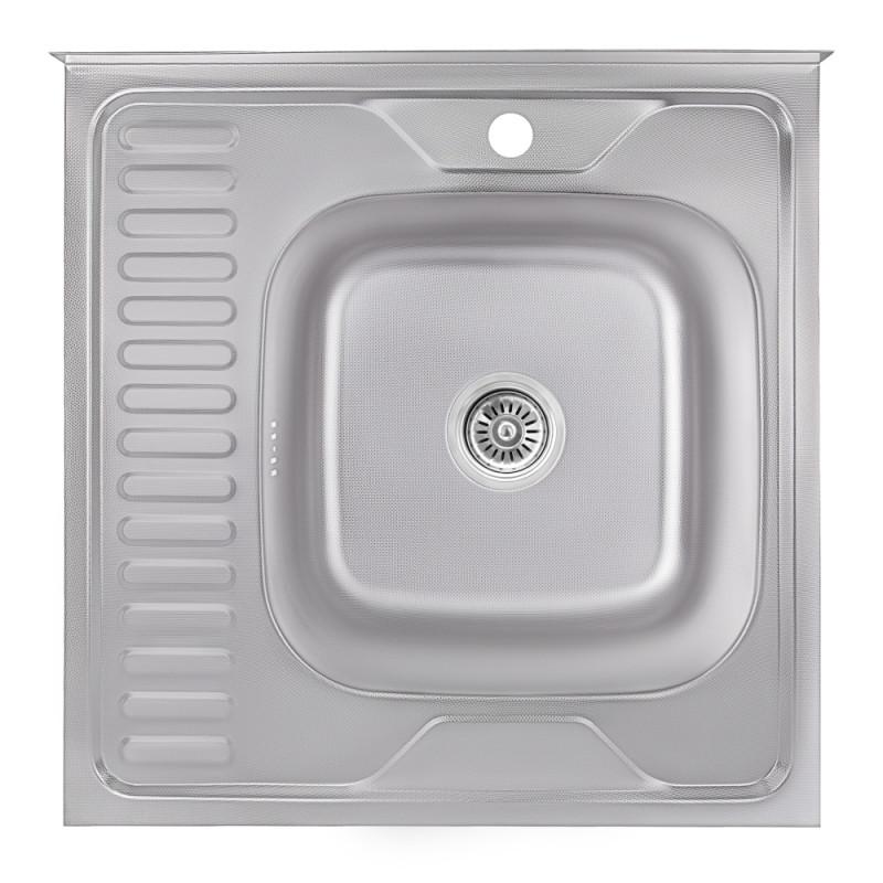 Кухонная мойка Lidz 6060-R Decor 0,6 мм (LIDZ6060RDEC06)