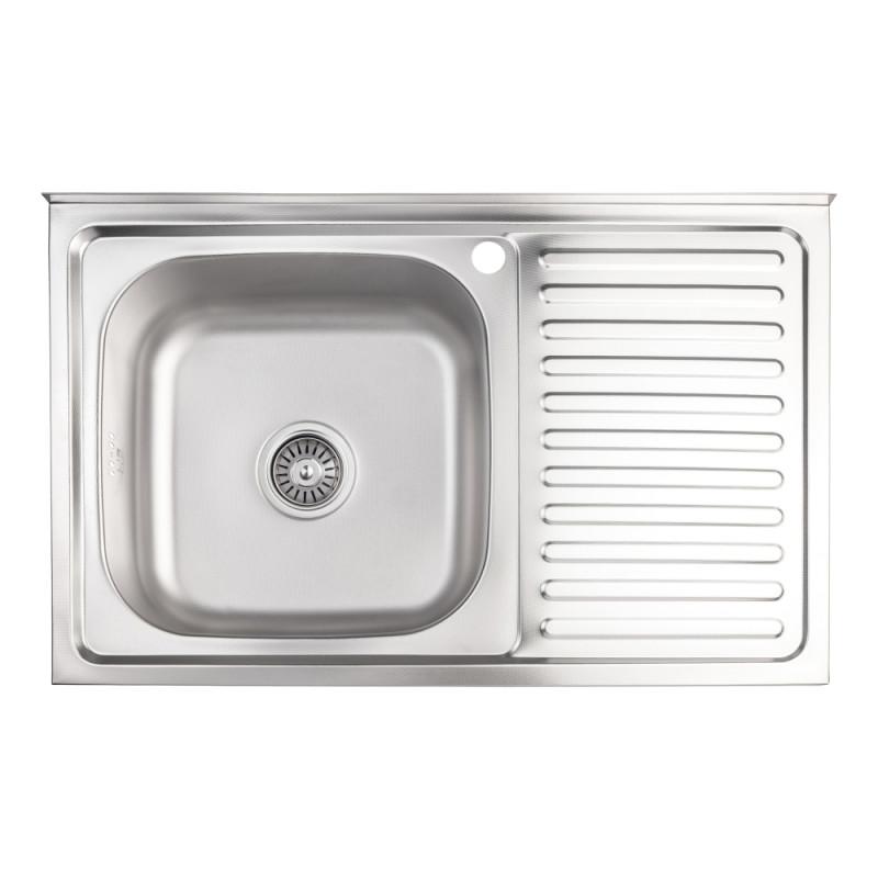 Кухонная мойка Lidz 5080-L Decor 0,8 мм (LIDZ5080LDEC06)