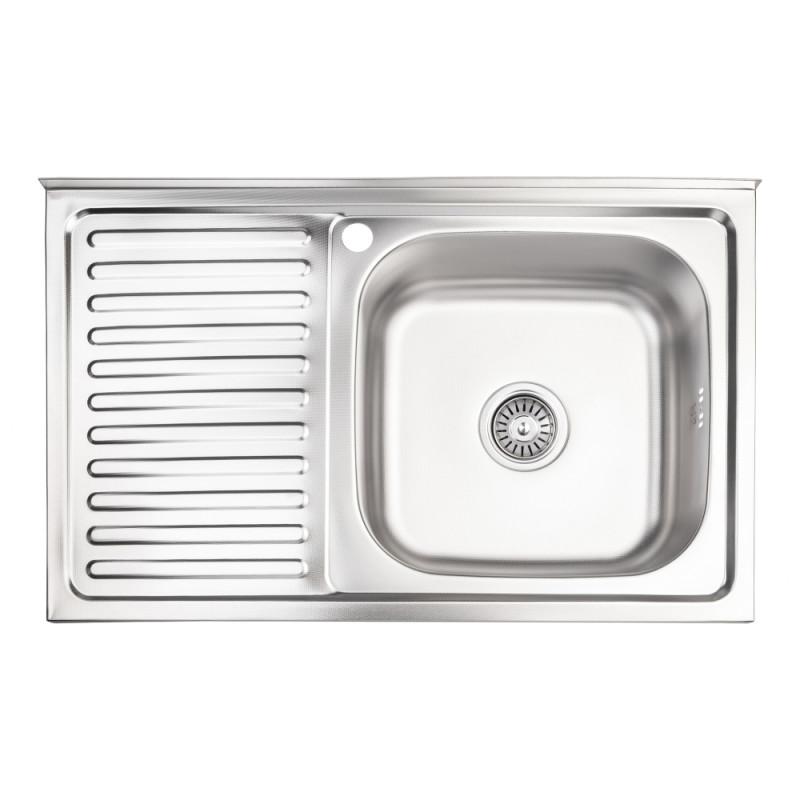 Кухонная мойка Lidz 5080-R Decor 0,8 мм (LIDZ5080RDEC06)