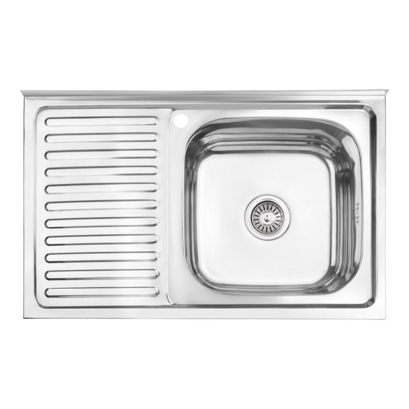 Кухонная мойка Lidz 5080-R Polish 0,8 мм (LIDZ5080RPOL06)