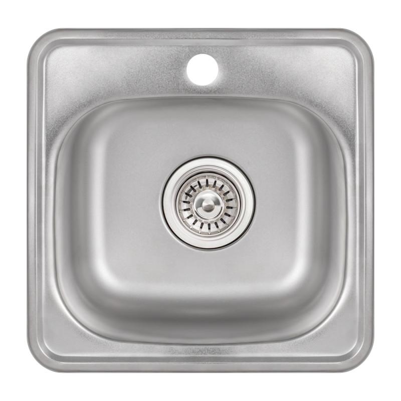 Кухонная мойка Lidz 3838 Satin 0,6 мм (LIDZ3838POL06)
