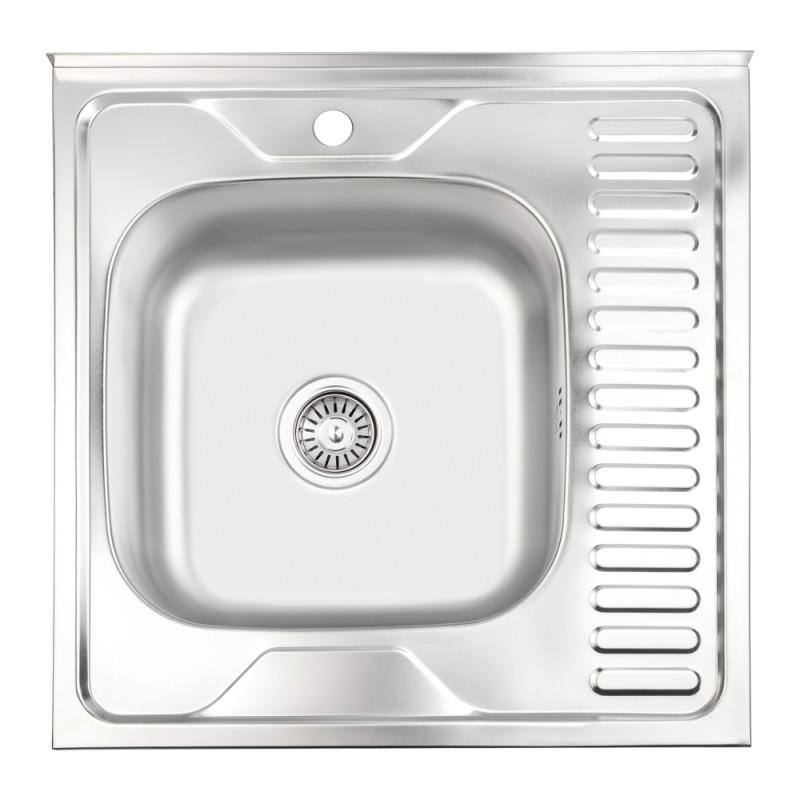 Кухонная мойка Lidz 6060-L Satin 0,6 мм (LIDZ6060SAT06)