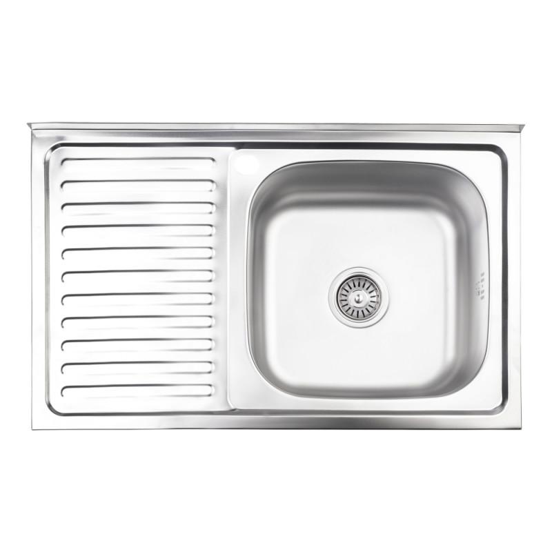 Кухонная мойка Lidz 5080-R Satin 0,8 мм (LIDZ5080RSAT8)