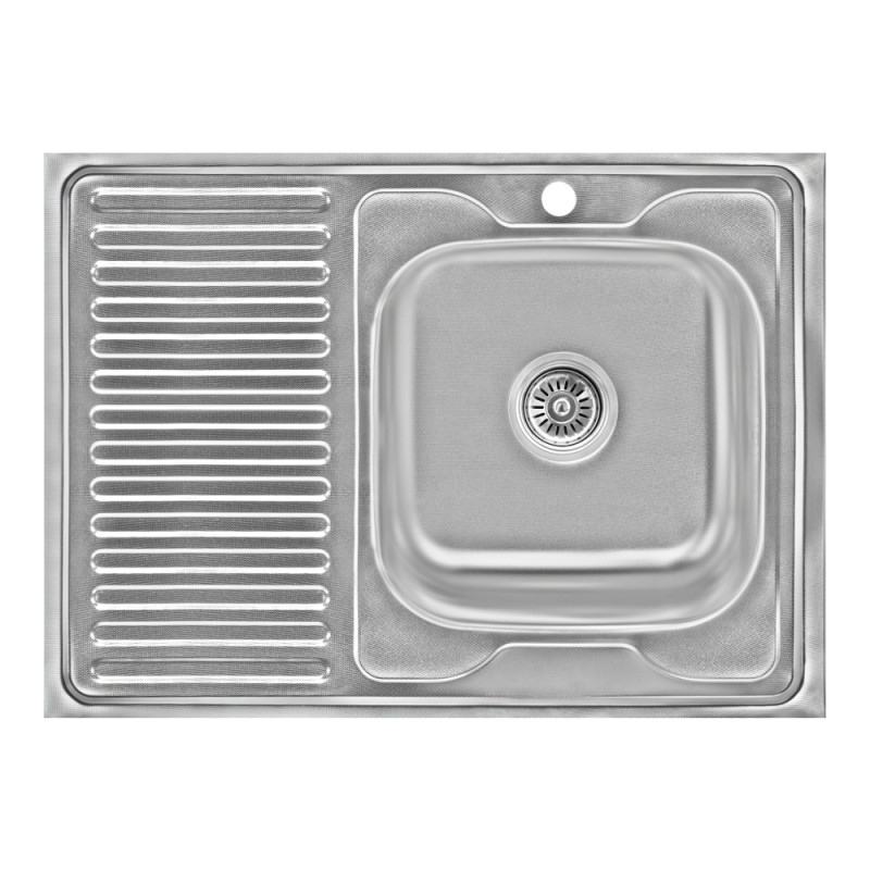 Кухонная мойка Lidz 6080-R Decor 0,6 мм (LIDZ6080RDEC06)