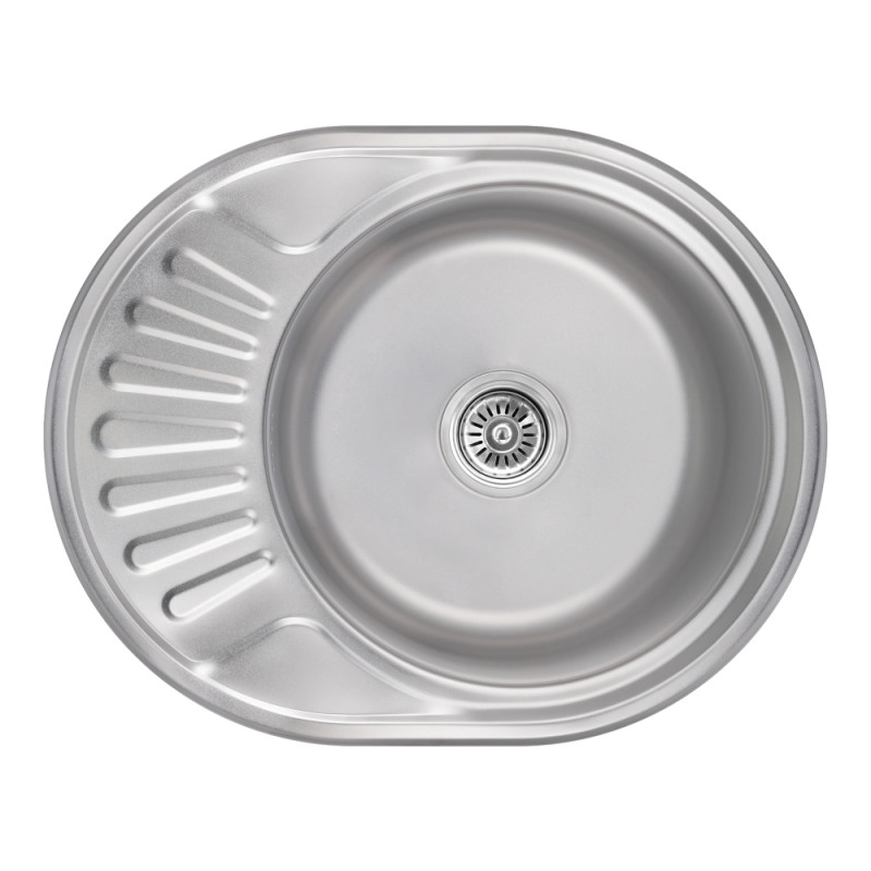 Кухонная мойка Lidz 5745 Satin 0,8 мм (LIDZ5745SAT08)