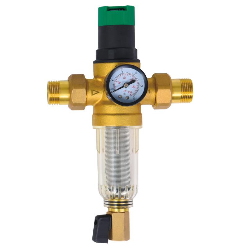 """Фильтр самопромывной SD Forte 1/2"""" с редуктором для холодной воды"""
