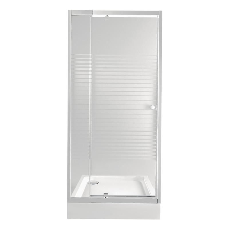 Набор Qtap дверь в нишу Pisces WHI208-9.CP5 + поддон Unisquare 309915