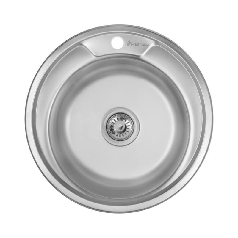 Кухонная мойка Imperial 490-A 0,8мм Decor + сифон