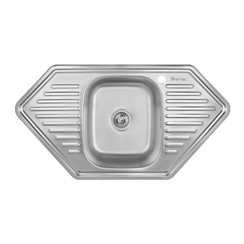 Кухонная мойка Imperial 9550-D 0,8мм Satin + сифон