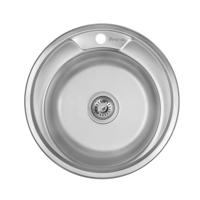 Кухонная мойка Imperial 490-A Polish 0.6мм