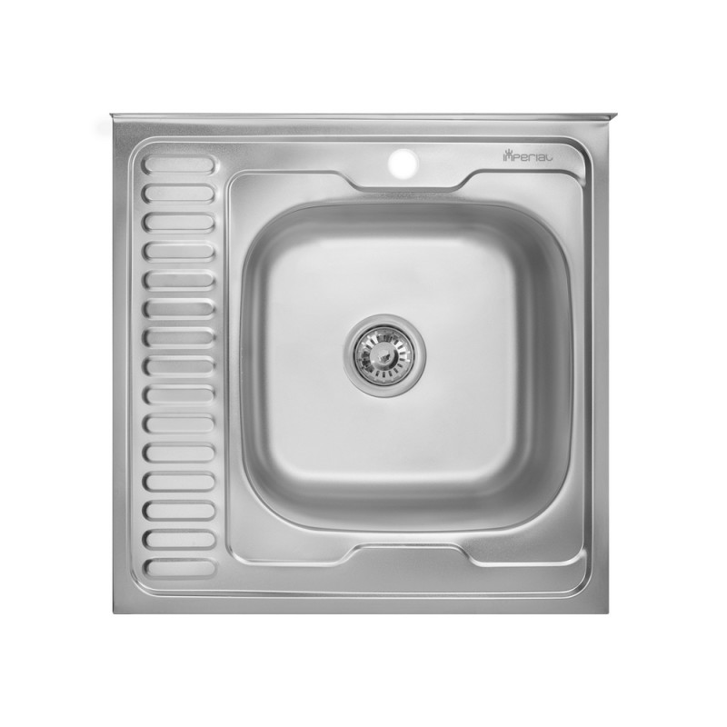 Кухонная мойка Imperial 6060-R Polish 0.8мм