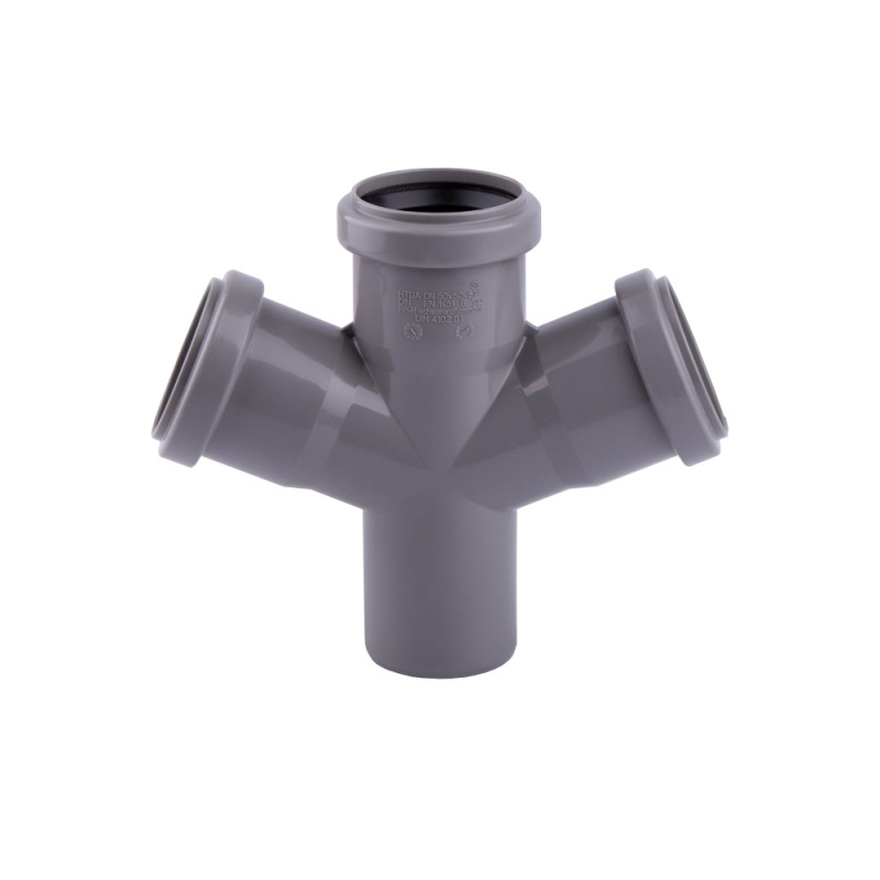 Крестовина канализационная TA Sewage 50х50х50х50, 45°