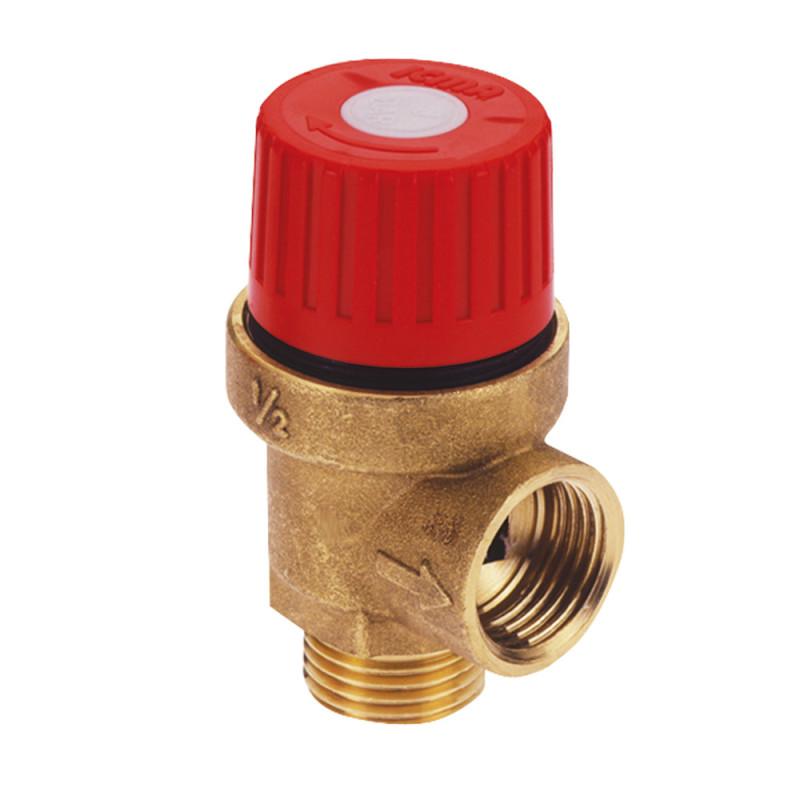 """Запобіжний клапан Ø1/2"""" вз (3 бар) """"Icma"""" Арт. 242"""