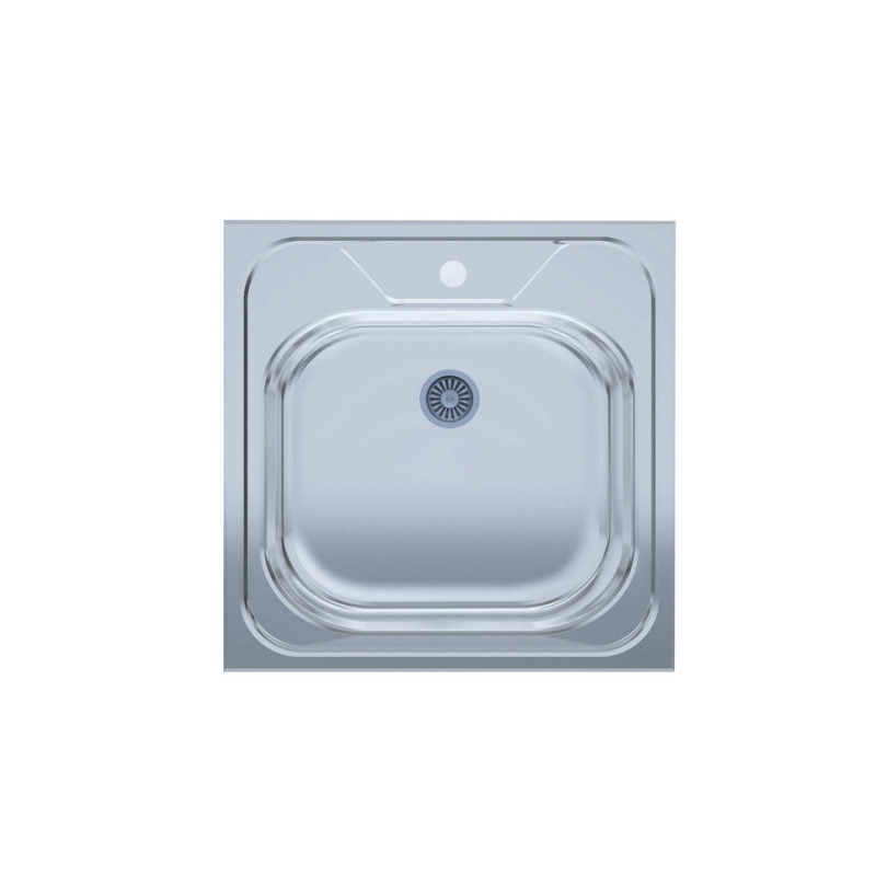Кухонная мойка UA 5050 0,4мм Polish (накладная)