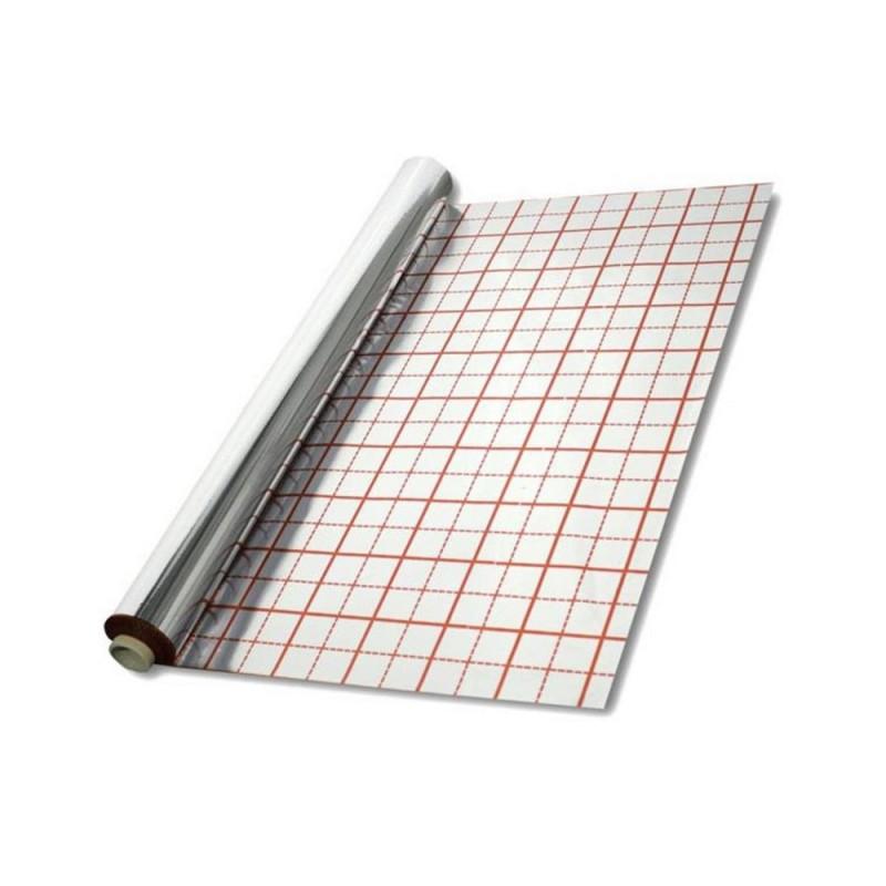 Пленка фольгированная с разметкой 50 м2 (50 мкр)