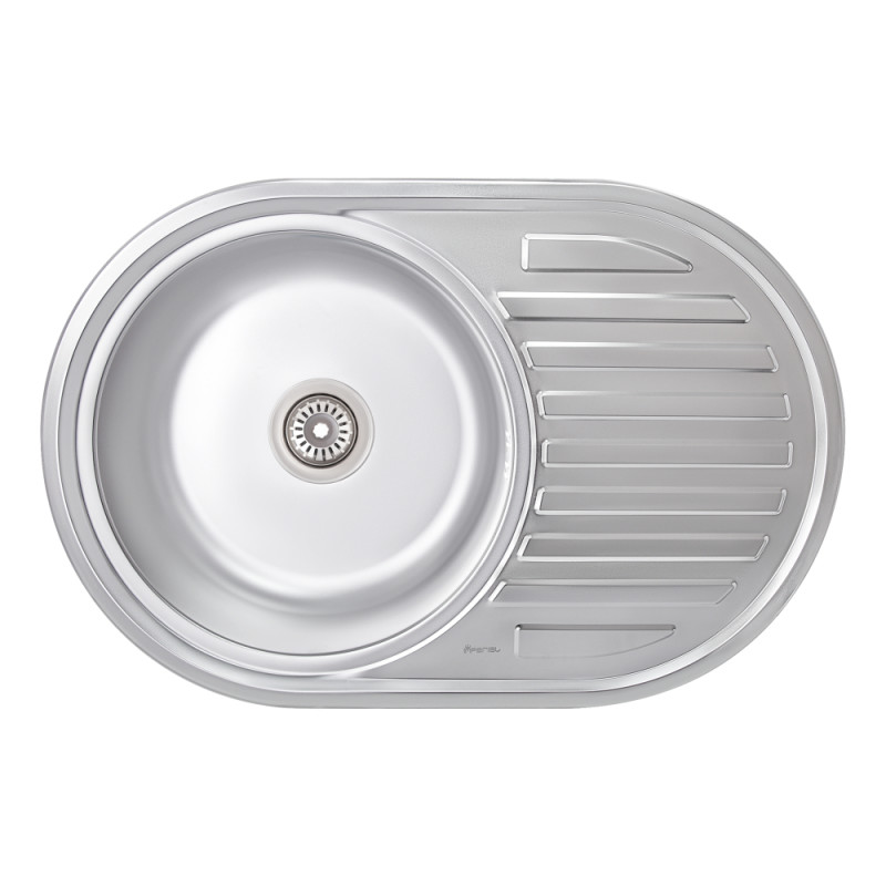 Кухонная мойка Imperial 7750 0,6мм Satin + сифон