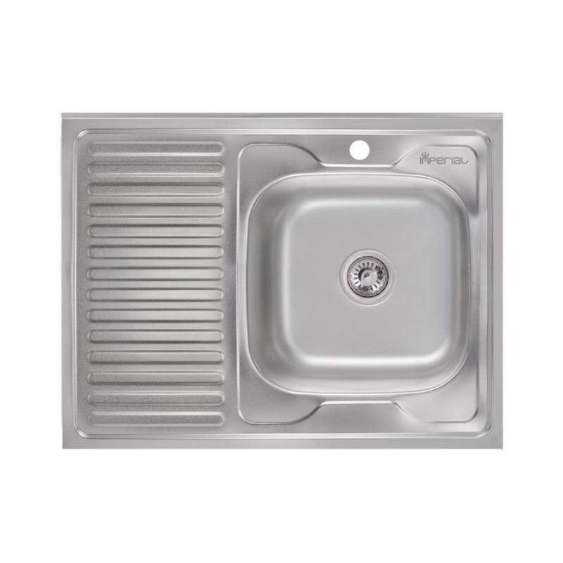 Кухонная мойка Imperial 6080-R Satin (IMP6080R06SAT)